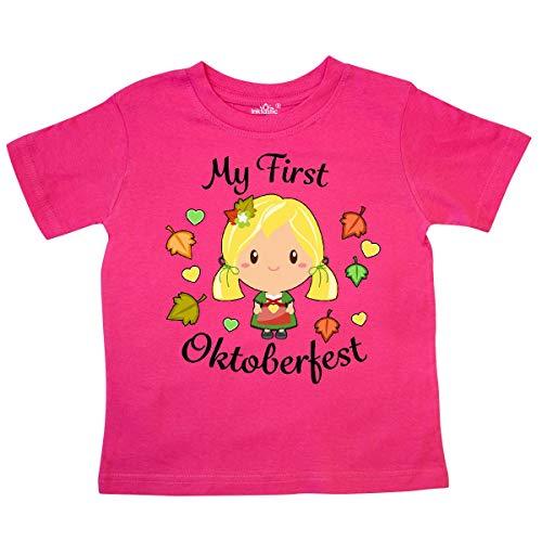 inktastic My First Oktoberfest Girl Toddler T-Shirt 5/6T Hot Pink