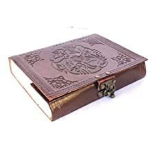 Universal Leather Blank Journal Unlined Planner Scrapbook Photo Album Sketch Pad for Sketching Drawing Doodling Gift for Men & Women