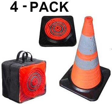 Light up LED Traffic Cone First Responder Heavy Duty Base 28