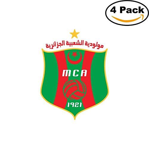 fan products of Mouloudia Club d Alger Algeria Soccer Football Club FC 4 Stickers Car Bumper Window Sticker Decal 4X4