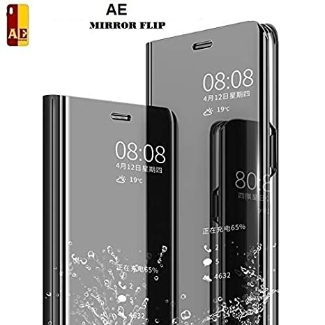 53496d95f7f Amazon.in  Buy AE MOBILE ACCESSORIES Mirror Flip Cover Semi Clear View Smart  Cover Phone S-View Clear