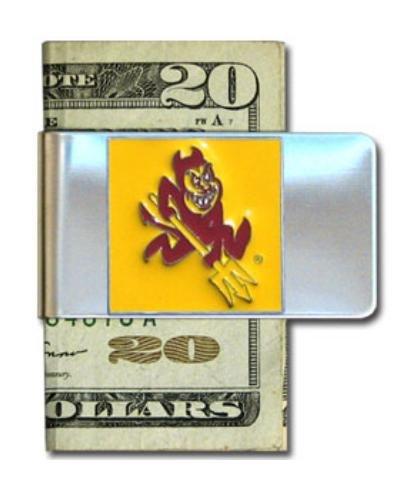(Arizona St. Sun Devils Steel Money Clip )