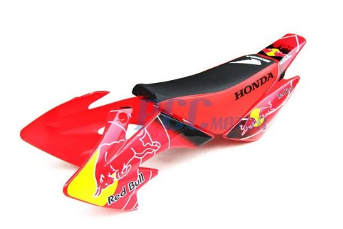 Red Bull Body / Plastics & Decal / Graphics Kit Pit Bike Honda CRF50 XR50