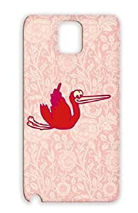 Cicogna Ooievaar Baby Cigea Bocian Cigogne Cegonha Storch Stork Family TPU Red For Sumsang Galaxy Note 3 Protective Case