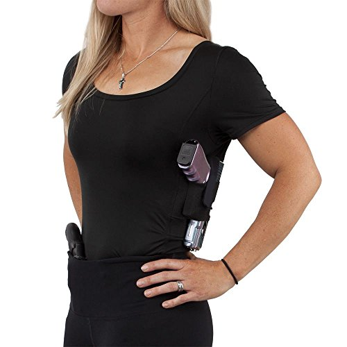GrayStone Holster Shirt Scoop Neck Concealed Carry Clothing For Women - Deep Concealment Compression CCW Clothes