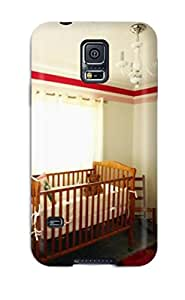 New Premium JGFLYQI5726ZaJZg Case Cover For Galaxy S5/ Red And White Baby Nursery Protective Case Cover