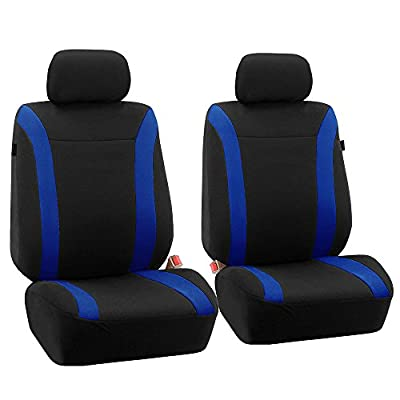FH-FB054115 Cosmopolitan Flat Cloth Seat Covers, Airbag compatible and Split Bench -Fit Most Car, Truck, Suv, or Van
