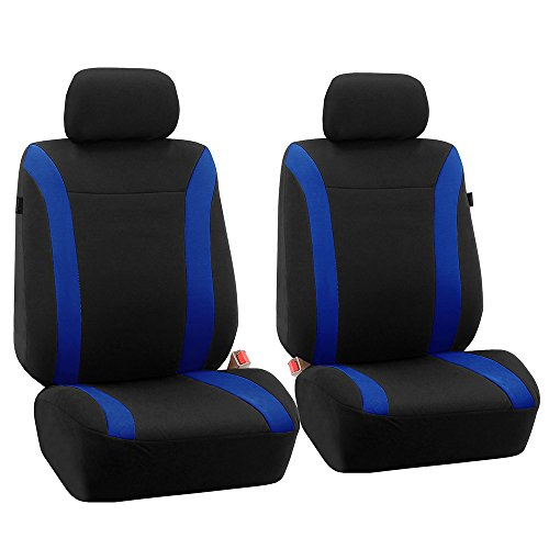 2013 Audi A4 Type - FH Group FH-FB054102 Blue Cosmopolitan Flat Cloth Seat Covers, Airbag Compatible and Split Bench, Blue/Black Color-Fit Most Car, Truck, SUV, or Van