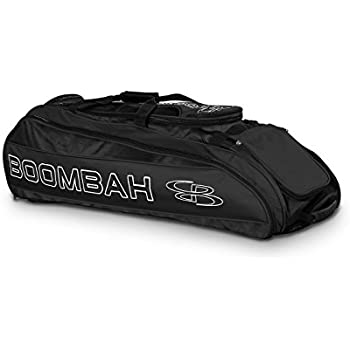 "Boombah Beast Baseball / Softball Bat Bag - 40"" x 14"" x 13"" - Black - Holds 8 Bats, Glove and Shoe Compartments"