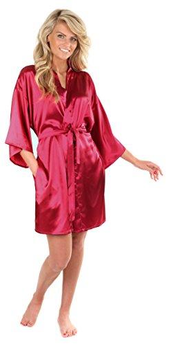 VEAMI Women's Kimono Robe-Cabernet Mist-X-Large, Short