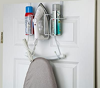 Sunbeam Over the Door Hanging Iron Board Holder and Organizer