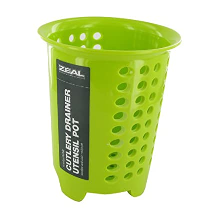 Incluye embalaje original verde lima melamina cocina olla escurridor para cubiertos
