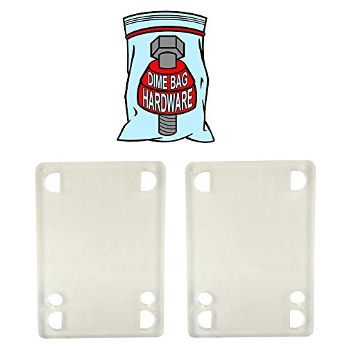 Skateboard 2 Clear Riser Pads 1/8 In Skateboards