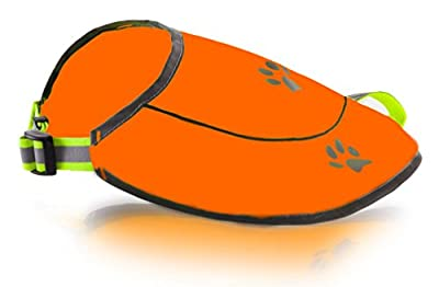 FUNTONE COLORS Dog Safety Reflective Vest -Hunting Waterproof Yellow or Orange Vest for Best Visibility at Day and Night with Claps, Connectors Comfortable Adjustable Size, XS S M L XL XXL from Funtone Colors