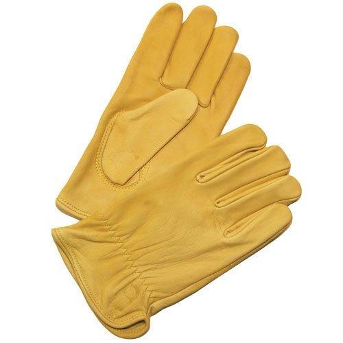 Bellingham C2354L Premium Cowhide Driver Gloves, Top Grain Golden Leather, Large ()