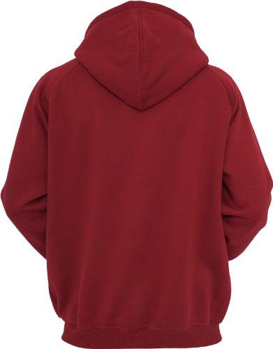 TB014c 'Urban Classics' Zip Hoody (Various Colours), Größe:S;Farbe:ruby