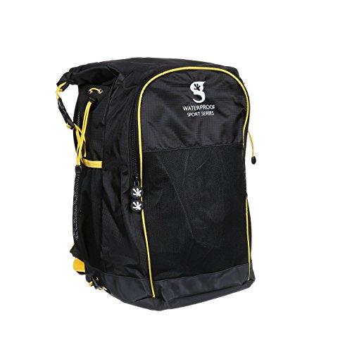 geckobrands Wasserdicht Alle Sport Rucksack schwarz / gelb