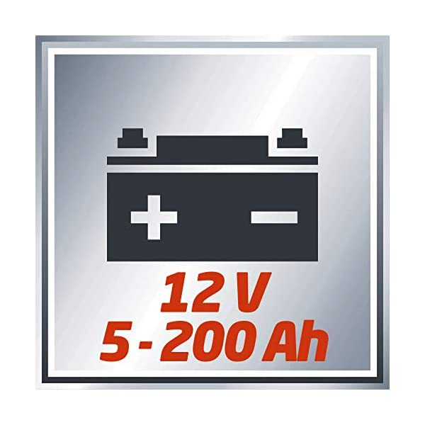 411QtRgBmEL Einhell 1050821 Batterie-Ladegerät CC-BC 10 E (12 V, für Batterien von 5-200 Ah, Ladeelektronik, Stahlblechgehäuse, inkl…