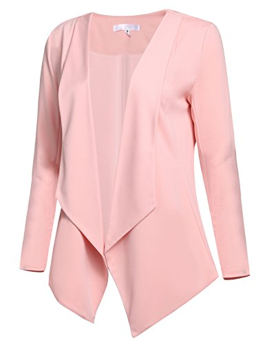 cc90437f220 ACEVOG Women s Long Sleeve Open Front Asymmetrical Hem Casual Blazer Jacket