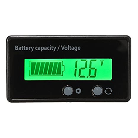 6-63V LCD Acid Lead Lithium Battery Capacity Indicator Digital Voltmeter blue
