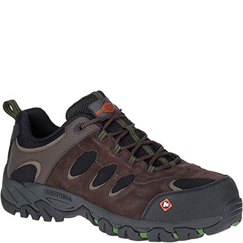 Merrell Ridgepass Bolt Comp Toe Work Shoe Men 10.5 Espresso
