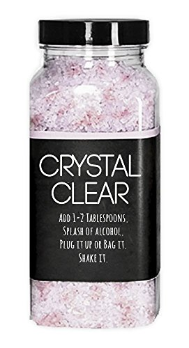 Crystal Clear - Ceramic Metal Glass Pipe and Bong Cleaner - Natural Odorless Water Pipe Solution