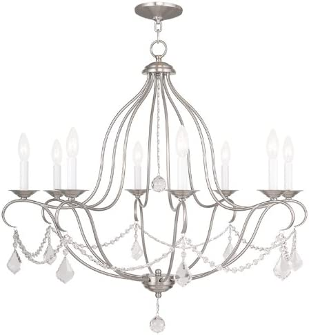 Livex Lighting 6428-91 Chesterfield 8 Light Chandelier