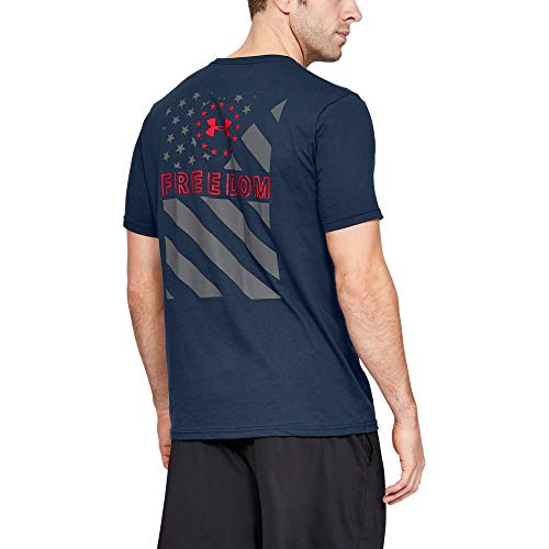 Under Armour Freedom Express T-Shirt, Academy//Red, Large