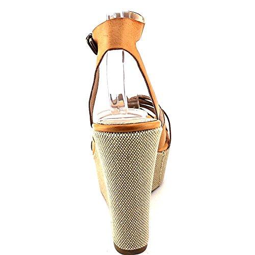Steve Madden Twizter Fibra sintética Sandalia Cognac