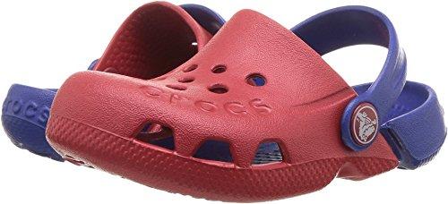 Red Kids Clogs - Crocs Unisex Electro Clog, Pepper/Cerulean Blue, 12 M US Little Kid