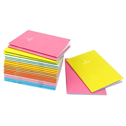 NUOLUX Memo Books Ruled Notebook Notepads Journal Diary 8 Colors Pack of 24
