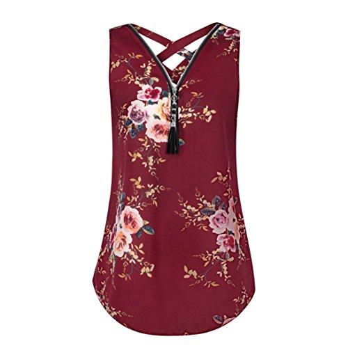 UONQD Woman Women Zipper Sleeveless Casual Vest Top Blouse Ladies Summer Loose T Shirts Top