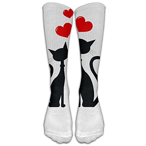 Price comparison product image Field Two Cats In Love Unisex Tube Socks Knee High Sports Crew Fashion Novelty Crew Fashion Novelty Socks Underwear Tube Socks Knee High Sports