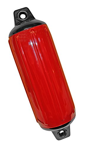 (Taylor Made Products 955622  Super Gard Inflatable Vinyl Boat Fender, 6.5 x 22 inch, Red)