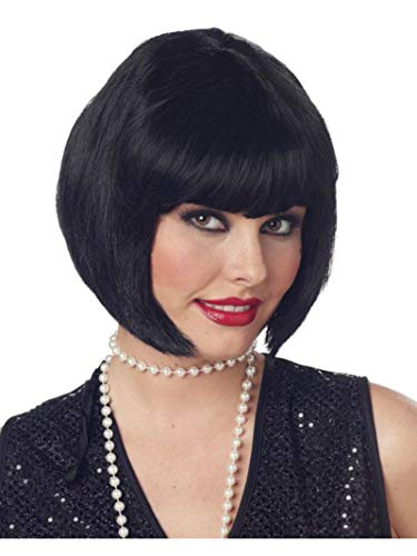 1920s Style Wigs (California Costumes Women's Flapper Wig,Black,One)