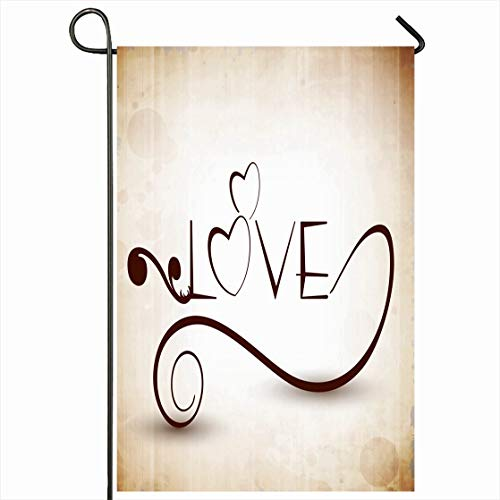 Ahawoso Outdoor Garden Flag 28x40 Inches Corporate Word Text Love Abstract Holidays Celebrate Modern Handwriting Celebration Passion Pattern Design Seasonal Home Decorative House Yard Sign