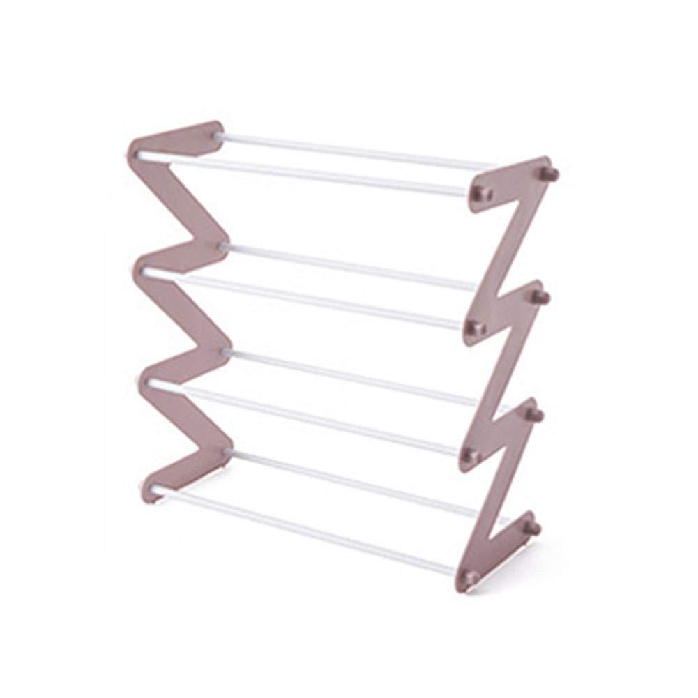 Facile Adminitto88 Scaffale per Scarpe 4 Livelli con Ripiani in Tessuto Oxford Regolabili Scaffale per Attrezzi in Metallo Fai-da-Te Supporto per Zaini Durevole Ed Espandibile Espandibile Tipo Z