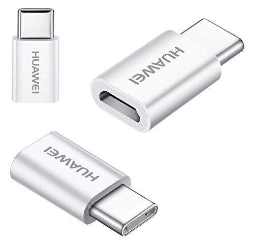 Genuine Official Huawei AP52 Micro USB to USB Type-C Adapter - White (No Retail Packaging)