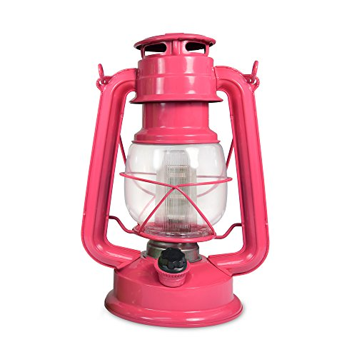 Northpoint Vintage Style Pink Flamingo Hurricane Lantern with 12 LED