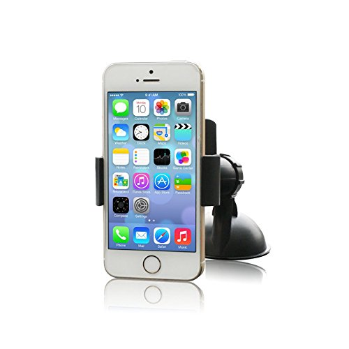 GemRay Car Mount Holder. Hold Your Cell Phone Safe And Secure. Compatible With Iphone 6/6Plus/5/5s/5c/4s/4. Will hold any other phone up to 5