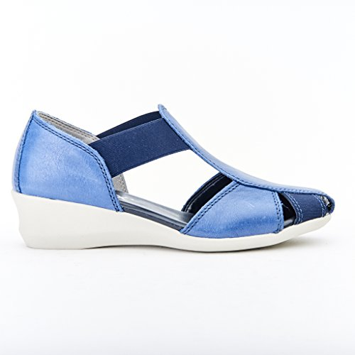 SANDALI DONNA THE FLEXX FASCIA PELLE COLORE BLUE