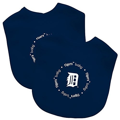 Baby Fanatic Team Color Bibs, Detroit Tigers, 2-Count by Baby ()