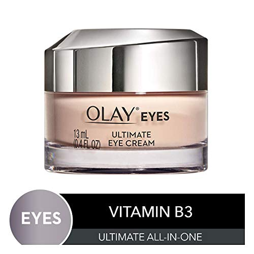 Olay Ultimate Eye Cream for Wrinkles, Puffy Eyes + Dark Circles, 0.4 fl oz (Rose And Almond Olay)