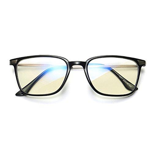 Black force rétro optiques bleus verres sans Carré anti Lunettes Inlefen doux de 4PBwvI