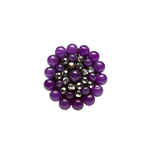 purple-round-stone-beads-ring-with-stone-bead-crystal-bead-wax-cotton-string-ring