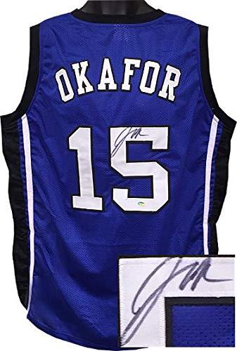 3140426478f Autographed Jahlil Okafor Jersey - Custom Stitched College Basketball XL  Schwartz Hologram - Autographed College Jerseys