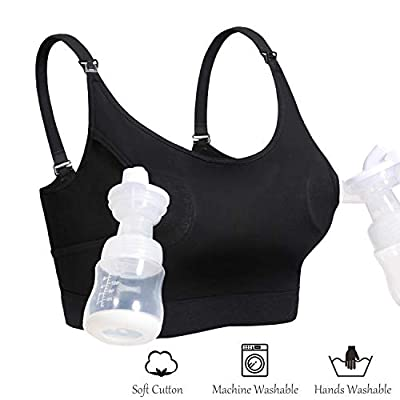 Lupantte Hands-Free Pumping and Nursing Bra with Breast Pad for Breast Pump
