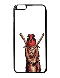 """Deadpool squirrel Custom Image Case iphone 6 -5.5 inches case , Diy Durable Hard Case Cover for iPhone 6 Plus (5.5"""") , High Quality Plastic Case By Argelis-Sky, Black Case New"""