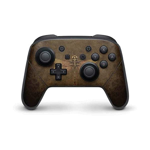 Fantasy & Dragons Nintendo Switch Pro Controller Skin - Steampunk & Gear Dragonfly Vinyl Decal Skin For Your Switch Pro Controller 3