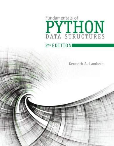 Book cover of Fundamentals of Python: Data Structures (MindTap Course List) by Kenneth Lambert